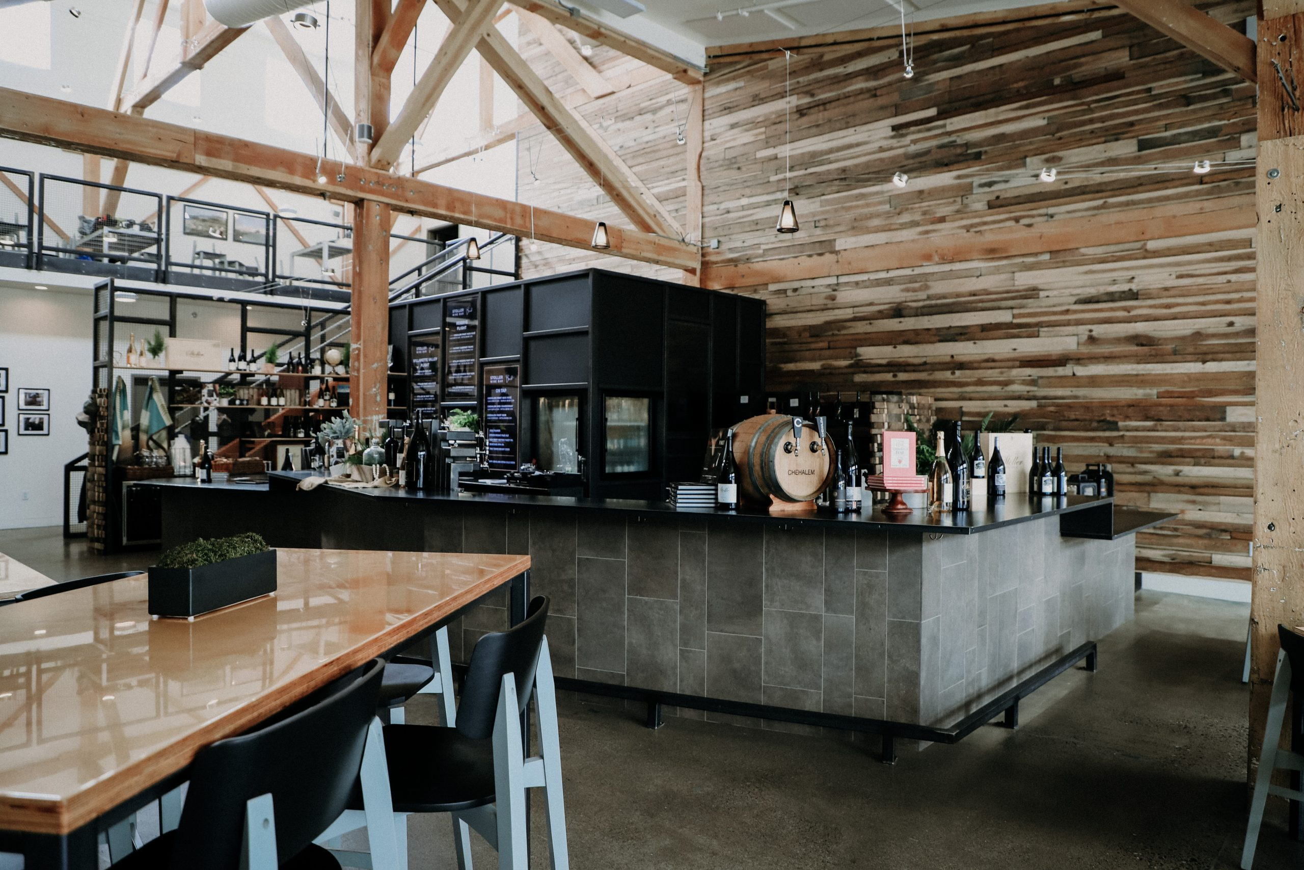 Inside of the renovated Stoller Wine Bar in Bend