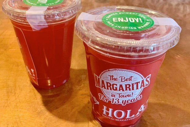 to go margaritas from hola in downtown bend oregon